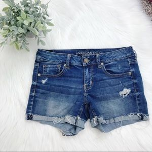 American Eagle Outfitters • Distressed Jean Shorts